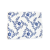 XZX Home Classical Chinese Blue and White Porcelain Cotton Linen Napkins Table Mats