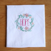 XZX Home Embroidered Cotton Linen Table Mat Napkin 4pcs , square