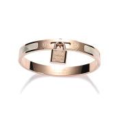 Plated 18k Rose Gold Bracelet, Personalised Lock Titanium Steel Bracelet