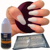 600 Pieces Oval Nails 10 Sizes – Fake Nail Tips Short Medium Full Cover Natural Opaque Acrylic False Nails For Nail Salons And DIY Nail Art -- FREE GLUE