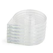 sourcingmap® 6pcs Clear Women Nail Art Beauty Striping Tape Line Case Tool Roller Box Holder
