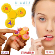 Glamza - With Lip Balm 3 Fruit Flavours Peach Strawberry Grape - for Girls Boys Teens & Adults