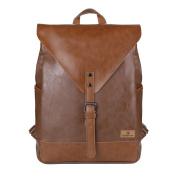 Koolertron Synthetic Leather School Laptop Backpack Satchel Bags Laptop Bag School Rucksack Casual Daypack