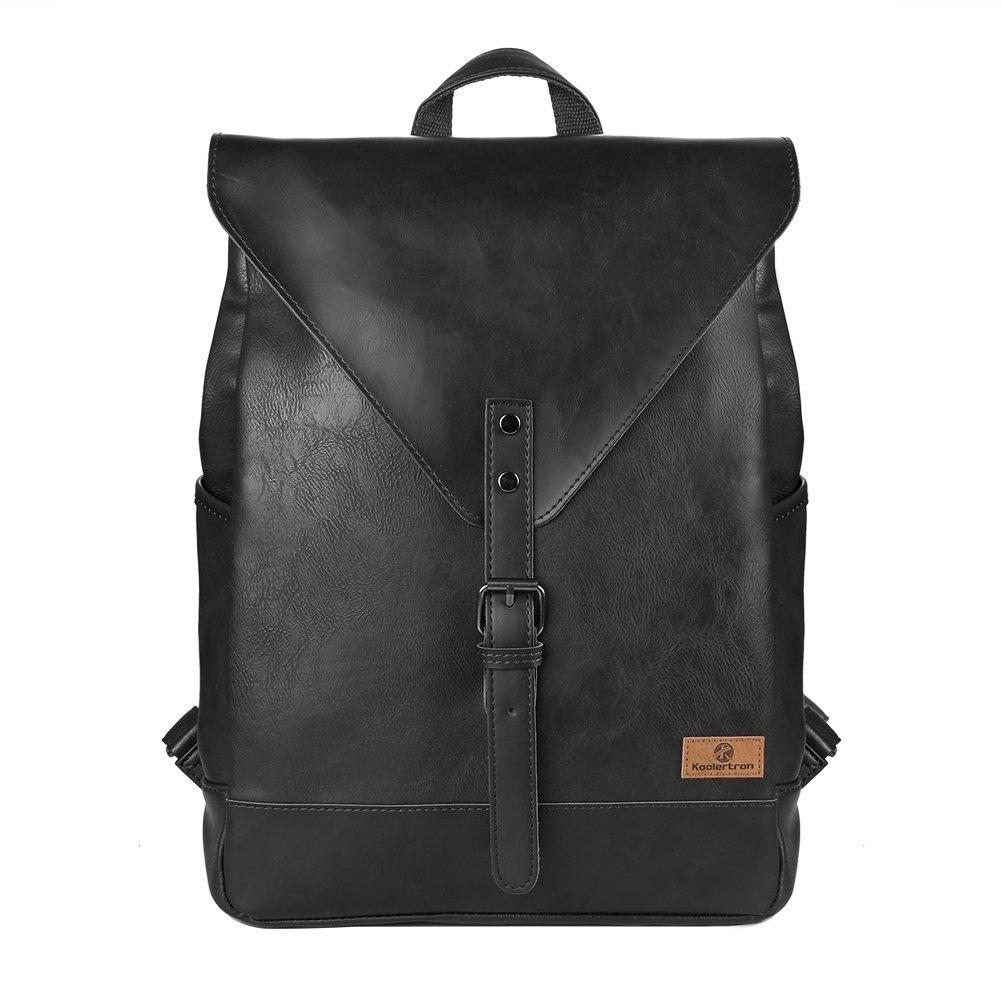VRIKOO Large Vintage Canvas Leather Shoulder Messenger Bag Leisure Duffel Laptop Satchel Cross-body Bags (Khaki) avUaSGB