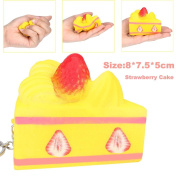 Food Squishy Toys HOMEBABY 8cm Squishy Strawberry Cake Straps Cream Perfume Slow Decompression Toys Squeeze Stress Reliever Toy Fun Toy Gift Kids Toy Christmas Gifts