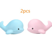 Animal Squishy Toys HOMEBABY 10CM Soft Whale Cartoon Squishy Slow Rising Squeeze Toy Phone Straps Ballchains Fun Toy Gift Kids Toy Christmas Gifts