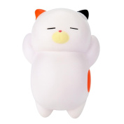 ZycShang 12cm Cute Lazy Sleeping Cat Scented Squishy Charm Slow Rising Squeeze Toy Charm