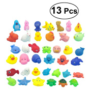 TOYMYTOY 13pcs Baby Floating Bath Toys Bath Time Fun Sea Animals Bathtub Toys for Baby Kids Infant Toddlers