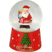Mini Snow Globe Christmas Father Red Christmas Express