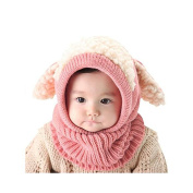 Yiwa Baby Kids Winter Hat Boy Girl Children Cute Dog Ear Knit Hat Earflap Caps Hood Scarves