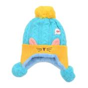 Yiwa Baby Boy Girl Kids Children Winter Hat Cut Cat Ear Fish Knit Hat