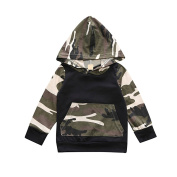 JaneDream Baby Boys Girl Infant Camouflage Hoodie Tops +Long Pants Children Outfits Set Handsome Cool