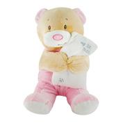My First Teddy Birth Baby Bear Cuddly Plush Soft Toy Boy Girl Blue Pink Comfort