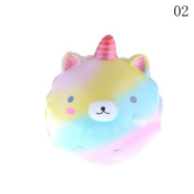 Eshylala 1 Pcs Kawaii Jumbo Cream Scented Slow Rising Squishy Charms Squeeze Kid/Adult Toy for Stress Relief and Time Killing