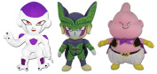 GE Animation Set of 3 Dragon Ball Frieza, Perfect Cell & Majin Buu Stuffed Plush