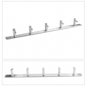 MultiWare Bathroom Hook Rack Wall Mount Hooks Hanger Rack 5 hooks
