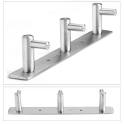 MultiWare Bathroom Hook Rack Wall Mount Hooks Hanger Rack 3 hooks
