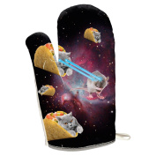 Taco Galaxy Cat Laserbeams All Over Oven Mitt Multi Standard One Size
