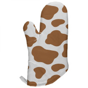 Brown Spot Cow All Over Oven Mitt Multi Standard One Size
