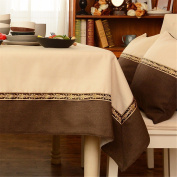 140*180cm beige brown patchwork solid table cloth cotton linen Japanese style Minimalist Modern dining table desk rectangular square eco-friendly cloth table covering