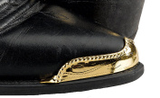 Western Express Brass Boot Tips, Rope Edge; Gold Plated WX-31