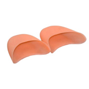 Gemini_mall 1 Pair of Gel Toe Caps/Pads/Protectors for Pointed Ballet Shoes White