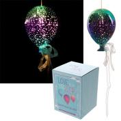 Puckator Metallic Green & Purple Glass Hanging LED Light Balloon BALL18