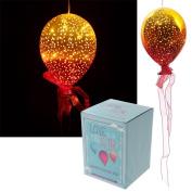 Puckator Metallic Orange & Yellow Glass Hanging LED Light Balloon BALL19