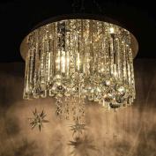 Simple Ceiling lamp 9W LED Crystal Ceiling Lamp Flush Mount Light diameter 40cm E14*3 Bulb Included Best Value