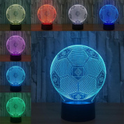 W-ONLY YOU-J Illusion Small Night Light Football 7 Lights Creative Kids Christmas Gift 3D Lamp Acrylic Vision Light Remote