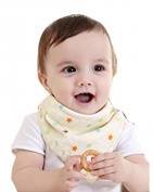 BarRan Classic Cute Baby Children Toddler Cotton Two Side Waterproof Feeding Apron Bibs