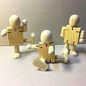 treasure-house Children 3 pcs DIY Wooden Assembling Transformation Robot Blocks Kids Handmade Painting Draw Tools Educational Toys Christmas Gifts