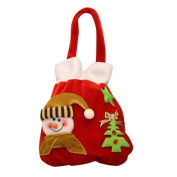 Transer® Santa Claus Gift Bag,Father Christmas/Snowmen Candy Gift Bag,Xmas Tree Party Decoration Drawstring Home Decor Backpack