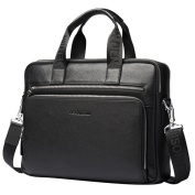 Bison Denim Men Soft Genuine Leather Messenger Bag Briefcase Handbag Satchels Ipad Bag