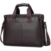 BINSON DENIM Leather Men's Laptop Bag Briefcase Handbag Messenger bag Shoulder bag
