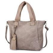 Vbiger PU Leather Handbag Purse Large Capacity Shoulder Bag With Removable Strap