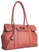 Big Handbag Shop Womens Faux Leather Designer Boutique Shoulder Bag