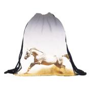 Longra® ✿ Unisex Women Men 3D Flamingo Pattern Print Bags Drawstring Backpack ❤ ! !