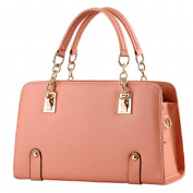 Vusum Women's Leather Handbag Zipper Hobo Satchel Toe Shoulder Bag Pink