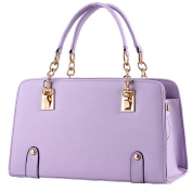 Vusum Women's Leather Handbag Zipper Hobo Satchel Toe Shoulder Bag Purple