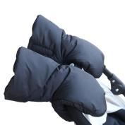 Stroller Hand Muff,Extra Thick Winter Waterproof Anti-freeze Gloves Kids Baby Pram Stroller Accessory Han Warmer