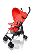 [2017 Model Upgraded Version] MirthMe Light Weight Baby Pushchair/Stroller/Pram PLUS (Warm Red) with Double Side (Warm Keeping & Viscose Fibre) Cushion Padding & Raincover