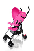 [2017 Model Upgraded Version] MirthMe Light Weight Baby Pushchair / Stroller / Pram PLUS (Hot Pink) with Double Side (Warm Keeping & Viscose Fibre) Cushion Padding & Raincover
