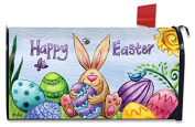 Happy Easter Bunny Magnetic Mailbox Cover Holiday Standard