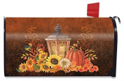 Fall Lantern Primitive Large Mailbox Cover Pumpkins Sunflowers Oversized
