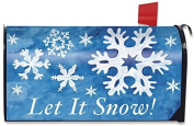 Let It Snow! Winter Large Magnetic Mailbox Cover Snowflakes Oversized