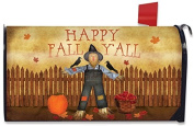 Happy Fall Y'all Scarecrow Mailbox Cover Primitive Autumn