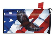 Patriotic Eagle Magnetic Mailbox Cover 4th of July Holiday