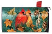 Autumn Splendour Cardinals Mailbox Cover Fall Birds Standard