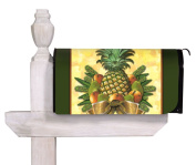 Evergreen Pineapple and Greenery,Magnetic Mailbox Cover,46cm x 60cm